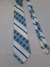 Vintage Trevira Ugly Men's Neck Bow Tie Blue White