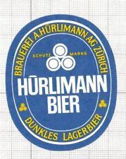 SWITZERLAND Brauerei A.Hurliman,Zurich Dunkles Lager Bier (3) beer label C1654