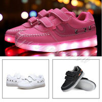 Toddler Kids Youth Light Up Shoes Rechargeable USB LED Sneakers Boys Girls