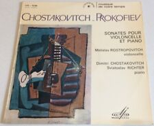 Chostakovitch Prokofiev Sonates pour violoncelle et piano Rostropovitch Richter