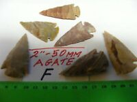 50mm Agate Stone Arrowheads,quality item...,lot of  6....(Lot F)