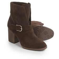 Isola Lavoy Dress Boots Block Heel Bootie Suede, Color: Coffee, US Size: 6.5 (M)