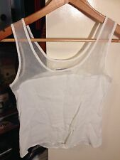 Luck And Trouble White Sleeveless Top Size 6