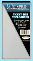 "10 Ultra Pro TICKET SIZE 3.5"" x 7.25"" TOPLOADERS NEW 3-1/2 x 7-1/4 stub currency"