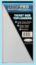 """10 Ultra Pro TICKET SIZE 3.5"""" x 7.25"""" TOPLOADERS NEW 3-1/2 x 7-1/4 stub currency"""