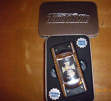 RARE TURBO BLUE TRIPLE FLAME TORCH LIGHTER IN BOX BLACK LINGERIE HOT PIN-UP GIRL