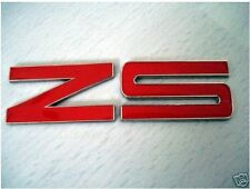 NEW RED ZS Enamel Chrome Letters Car Badge MG