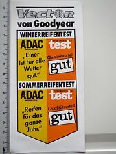Decal Sticker Goodyear Tyres VECTOR Stiftung Warentest ADAC 1985 MS (2040)