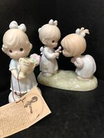 Two Precious Moments Figurines 1989 & 1993- 530026 & 521817