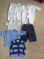 Baby Boy's Bundle of 6 Items Age Newborn to  6 Months