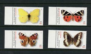 V082 Germany 2005 butterflies 4v. MNH