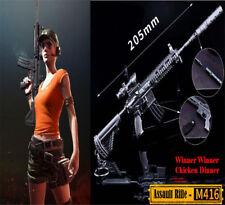 Playerunknowns Battlegrounds PUBG M416 with Silencer Metal Gun Model Keychain