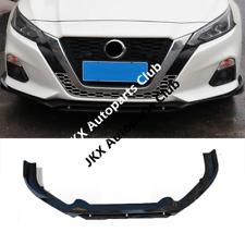For Nissan Altima 2019 Gloss Black Front Bumper Lip Spoiler Molding Cover Trim o