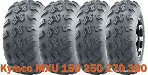Set 4 WANDA UTV ATV Tires 22x7-10 & 22x10-10 for Kymco MXU 150 250 270 300