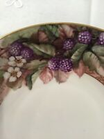 1915 KPM Berlin Art Nouveau Porcelain Raspberry Fruit Bowl/Serving Hand Painted