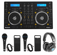 Numark Mixdeck Express DJ Mixer/Controller, Dual CD+USB Playback+Headphones+Mics