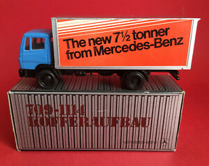 NZG 1/50 Mercedes-Benz 709-1114 71/2 Tonner Box Lorry No250 NMIB