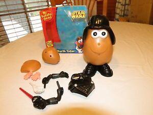 RARE Star Wars Mr. Potato Head Darth Tater Vader parts pieces Playskool game
