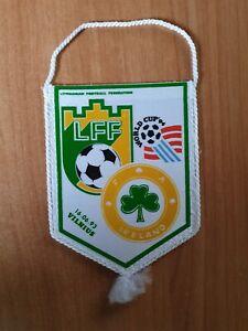 Football pennant Lithuania vs Ireland 1993 FIFA WC 1994 USA qualification game