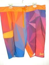 Xenses Mens Shorts Surf  & Board Orange Blue Multi Size 40