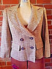 Womens Business Professional Suit Jacket Blazer Striped Worthington Size 8 Lined
