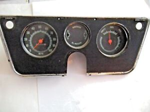 Chevy C-10 Pick Up Dash Instrument  Cluster Gauges Panel  67
