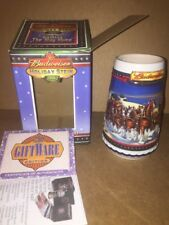 New Box 2002 Budweiser Beer Stein Guiding Home Holiday Series Ceramic Clydesdale