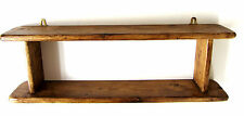 60CM HANDMADE RECYCLED PALLET WOOD RUSTIC BROWN WAXED 2 TIER SHELF
