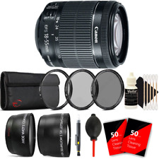 Canon EF-S 18-55mm f/3.5-5.6 IS STM Lens w/ Accessory Kit For Canon DSLR Cameras