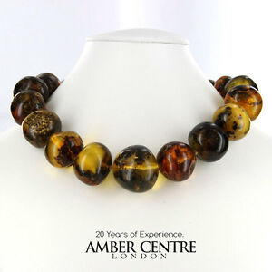 German Rare Unique Green Baltic Amber Beads Necklace adjustable A0047 RRP£1500