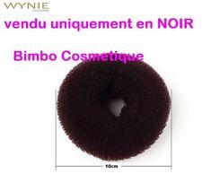 Bun Donut 10 CM NOIR Anneau Boudin Amplificateur de Chignon Cheveux Coiffure