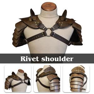 Mens Medieval Shoulder Armor Gladiator Samurai Battle Knight Pauldrons Costume