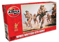 AIRFIX® 1:72 WW2 BRITISH 8th ARMY MODEL KIT SOLDIERS WORLD WAR II A00709