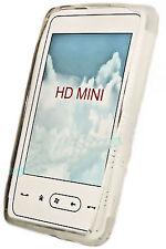SILICONE TPU per cellulare Cover Case Guscio Custodia Protettiva per HTC HD MINI IN ACQUAMARINA