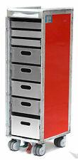 AirBerlin Flugzeugtrolley mit Büroausstattung - neue silberne Alu-Schubfächer