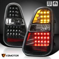 2005-2006 Mini Cooper S Black LED Turn Signal Brake Lamp Tail Lights Pair L+R