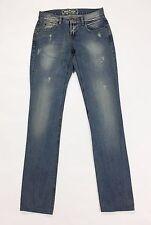 Daily america bryan jeans slim skinny blu denim gamba stretta usati donna T2114