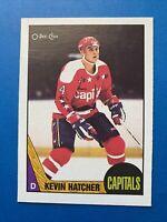 Kevin Hatcher Rookie 1987-88 #68 O-Pee-Chee Hockey Card OPC Washington Capitals