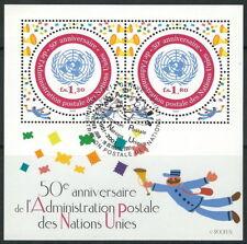 Vereinte Nationen - 50 Jahre Postverwaltung gestempelt 2001 Block 21 Mi. 883