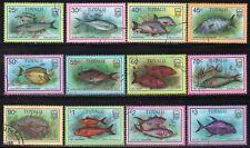 Tuvalu 1997 Fish Full Set of 12 Fine Used