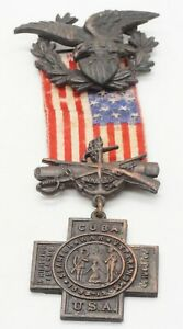 Spanish American War SAW 1898-1902 Veterans United NUMBERED Medal COMPLETE