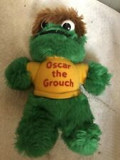 Vintage Sesame Street Oscar The Grouch Hasbro Softies Plush 8 Inches Tall