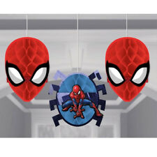 Spider Man Webbed Honeycomb Hanging Decorations Boys Birthday Party Supplies ~ 3