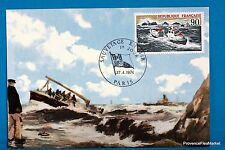 SAUVETAGE EN MER   Carte Postale Maximum FDC Yt C 1791
