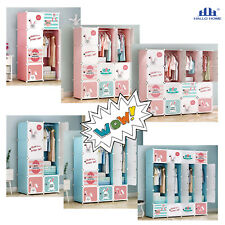 Hallo Home® BabyKleiderschrank Kinderzimmer Kinderkleiderschrank DIY Steckregal