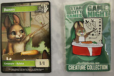 Star City Games SCG Game Night Rabbit Pin And Token Foil MTG Magic