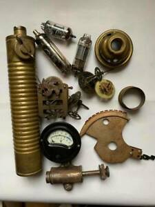 Lot for Steampunk Project, Brass, manometer ,Gear,Cogs