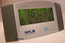 Funkuhr Funkwecker Uhr Wecker Datum Tag Monat Wochentag Temperatur,ovp.NEU!