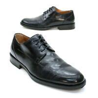 Johnston & Murphy Men's 10.5 M Signature Series Black Sheepskin Leather Oxfords