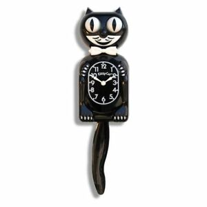 Classic  KIT KAT CLOCK - BLACK KITTY CAT CLOCK 3/4 Size -12.3/4 MADE USA- FS USA